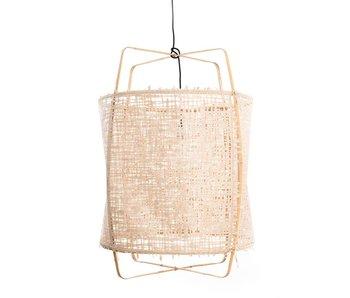 Ay Illuminate Hengelampe Z2 blond bambus naturlig kartong ø67x100cm