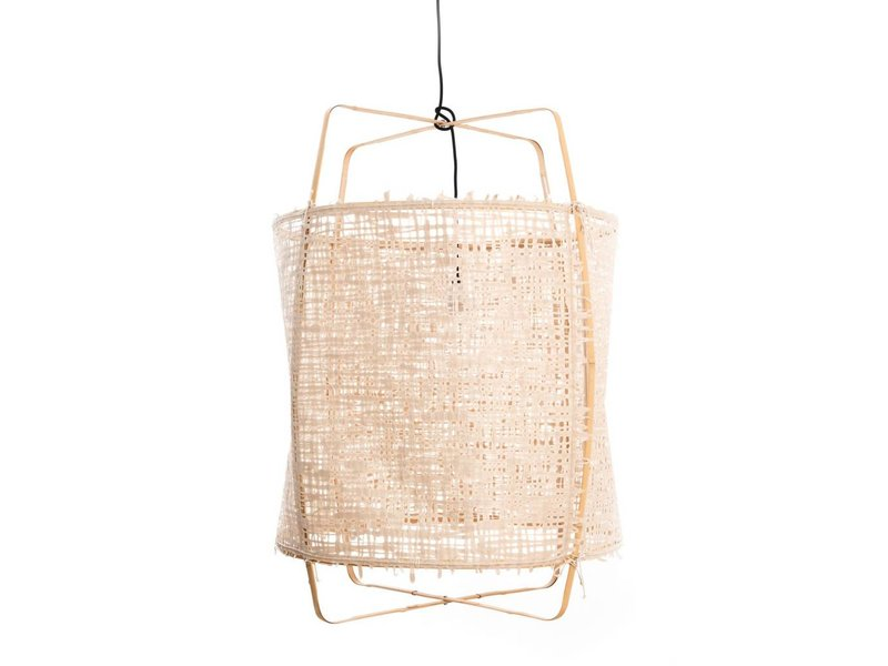 Ay Illuminate Hængelampe Z2 blond bambus naturlige karton ø67x100cm