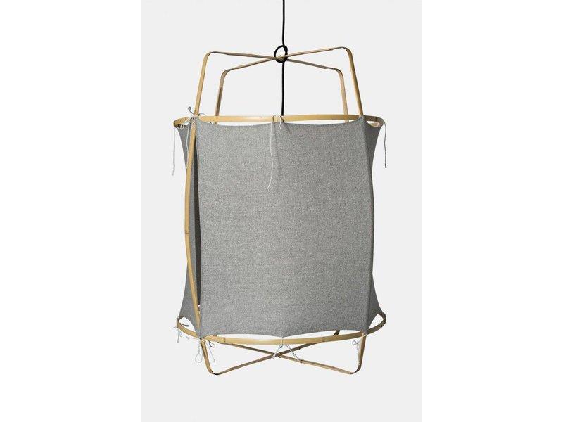 Ay Illuminate Hanglamp Z2 blond grijs katoen ø67x100cm