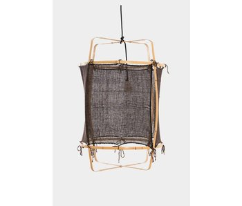 Ay Illuminate Suspension Z2 bambou blond noir ø67x100cm Cachemire