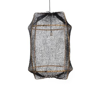 Ay Illuminate Hanging lamp Z2 blond sisal net black ø67x100cm