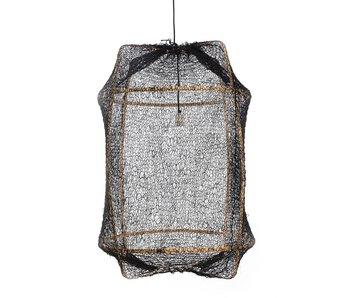 Ay Illuminate Lampada a sospensione Z2 bionda rete sisal nera ø67x100cm