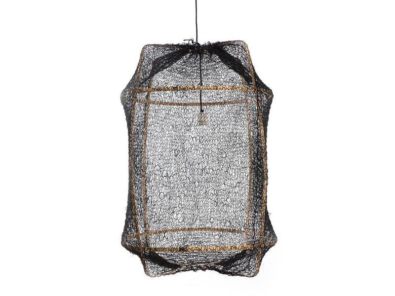 Ay Illuminate Hängeleuchte Z2 blond Sisal net schwarz ø67x100cm