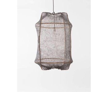 Ay Illuminate Hanging lamp Z2 blond sisal net gray ø67x100cm