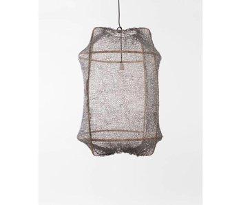 Ay Illuminate Lámpara colgante Z2 sisal rubio gris ø67x100cm
