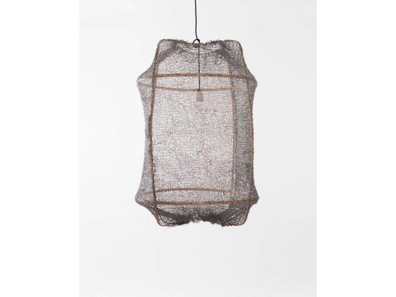 Ay Illuminate Hanglamp Z2 blond sisal net grijs ø67x100cm