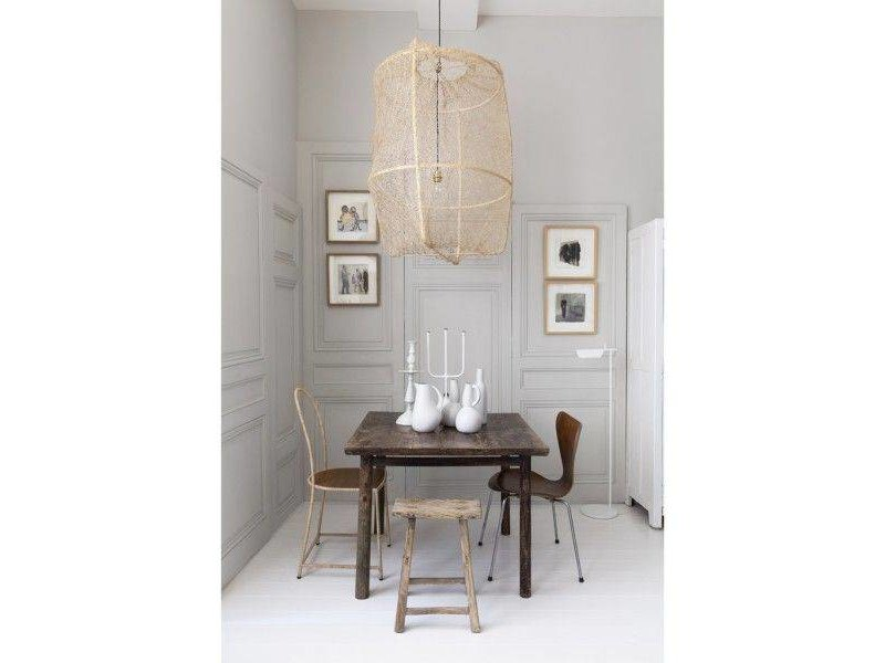 Design Ay Illuminate : Ay illuminate z hanging lamp blond frame with tea dyed sisal