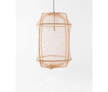 Ay Illuminate Hanglamp Z2 blond sisal net tea dyed ø67x100cm