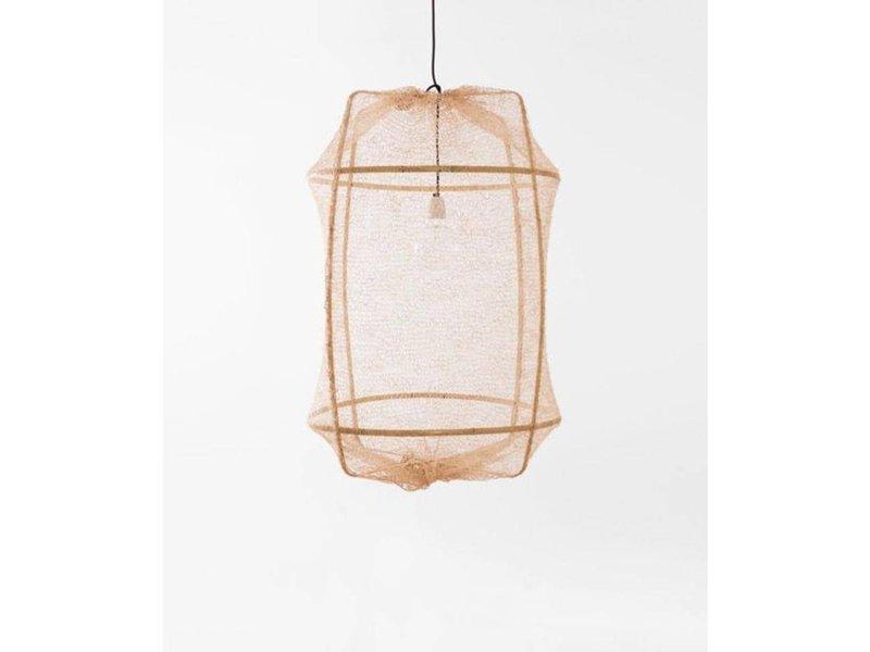 Ay Illuminate Hängeleuchte Z2 Blond Sisal Net Tee gefärbt ø67x100cm