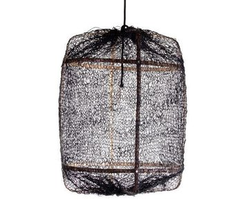 Ay Illuminate Hanging lamp Z5 black sisal net ø42x57cm