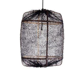 Ay Illuminate Hengelampe Z5 svart sisal netto ø42x57cm