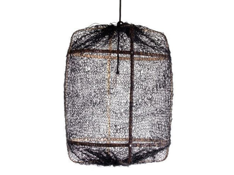 Ay Illuminate Hængelampe Z5 sort sisal net ø42x57cm