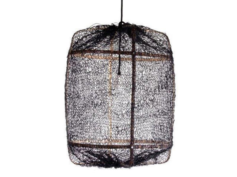 Ay Illuminate Hanglamp Z5 zwart sisal net ø42x57cm