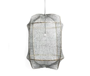 Ay Illuminate Lampada a sospensione Z5 nera in sisal grigio ø42x57cm