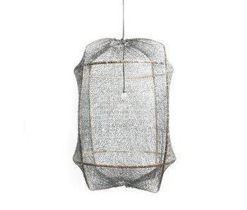Ay Illuminate Lámpara colgante Z5 sisal negro gris ø42x57cm