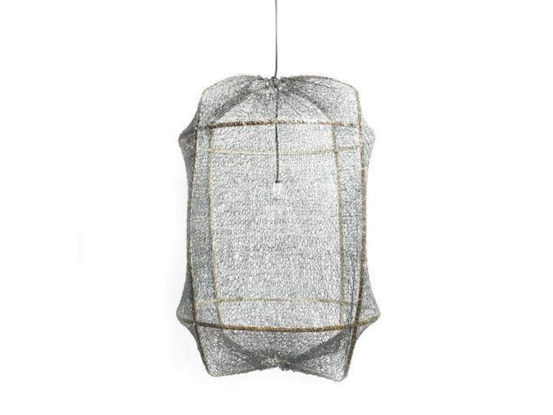 Ay Illuminate Hanglamp Z5 zwart sisal net grijs ø42x57cm