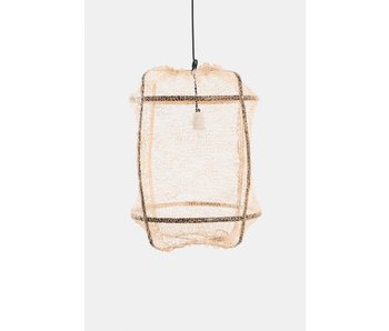 Ay Illuminate Hanging lamp Z5 black sisal net tea cloth ø42x57cm