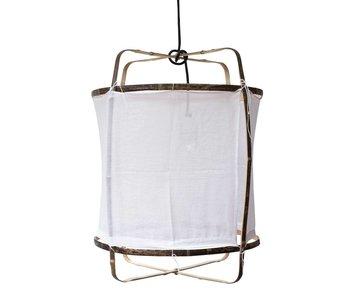 Ay Illuminate Lampada a sospensione Z5 in cotone bianco ø42x57cm