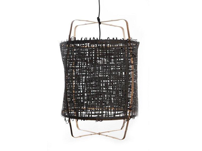 Ay Illuminate Hänglampa Z11 bambu svart kartong ø48,5x72,5cm
