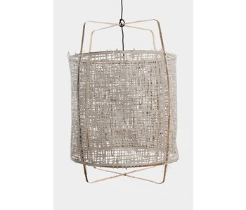 Ay Illuminate Hængelampe Z11 bambus grå karton ø48,5x72,5cm