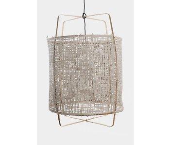 Ay Illuminate Hengelampe Z11 bambus grå kartong ø48,5x72,5cm