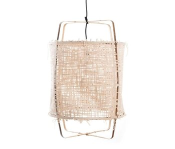 Ay Illuminate Hanging lamp Z11 bamboo natural cardboard ø48,5x72,5cm