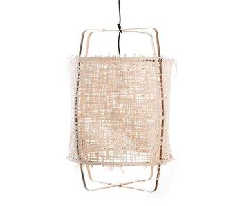 Ay Illuminate Lampada a sospensione Z11 bambù naturale in cartone ø48,5x72,5cm