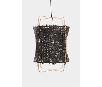 Ay Illuminate Hanglamp Z22 blond bamboe zwart karton ø48,5x72,5cm