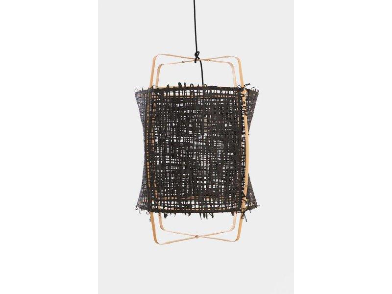 Ay Illuminate Hængelampe Z22 blond bambus sort karton ø48,5x72,5cm