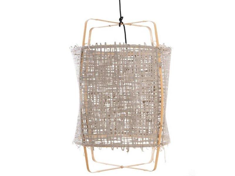 Ay Illuminate Hänglampa Z22 blond bambu grå kartong ø48,5x72,5cm