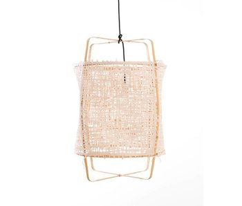 Ay Illuminate Lámpara colgante Z22 cartón bambú natural bambú ø48,5x72,5cm