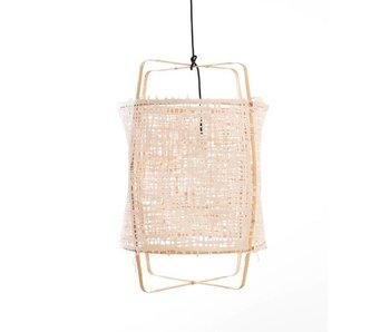 Ay Illuminate Suspension Z22 en bambou blond en carton naturel ø48,5x72,5cm