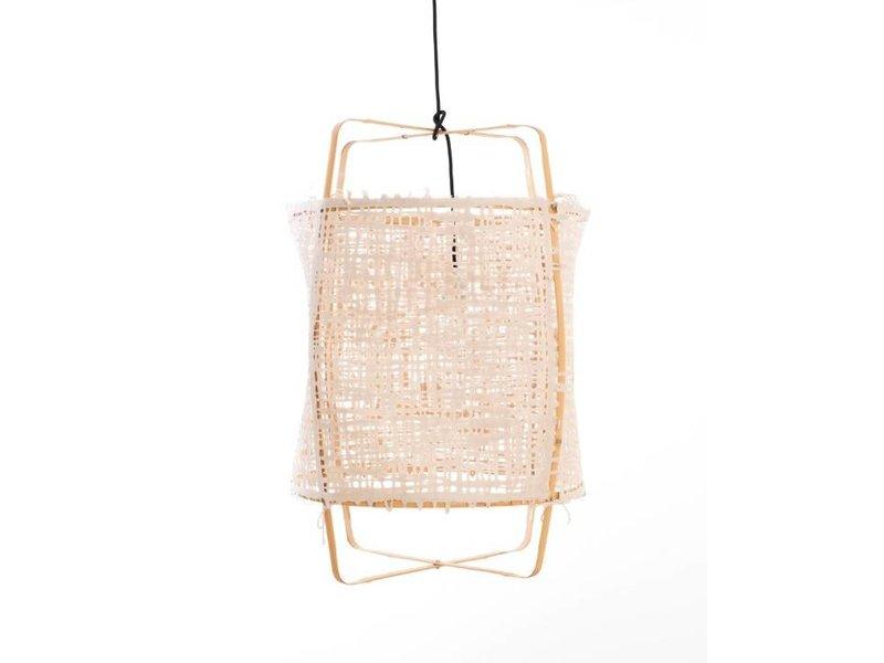 Ay Illuminate Hanglamp Z22 blond bamboe naturel karton ø48,5x72,5cm