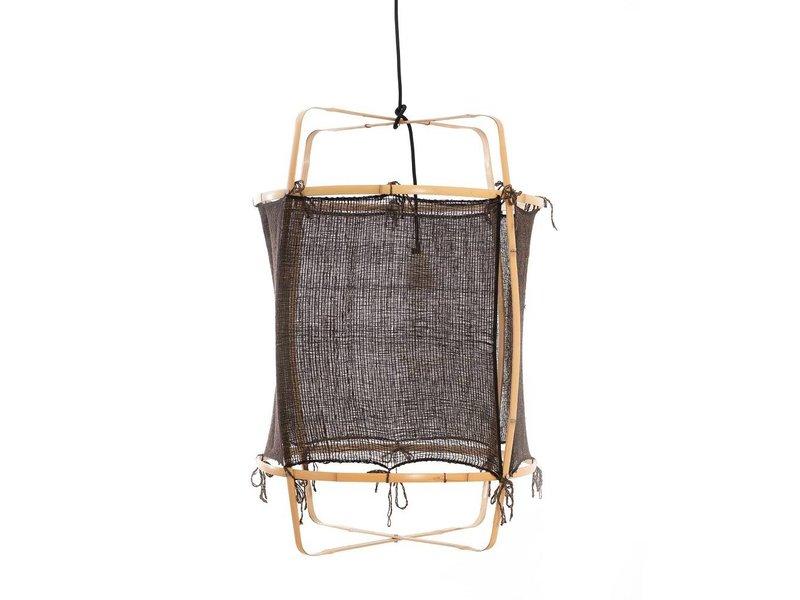 Ay Illuminate Hanglamp Z22 blond bamboe zwart cashmere ø48,5x72,5cm