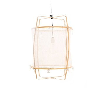 Ay Illuminate Hængelampe Z22 blond hvid kashmir ø48,5x72,5cm