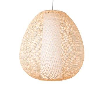 Ay Illuminate Hängande lampa Twiggy Egg naturliga bambu ø60cm