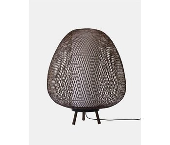 Ay Illuminate Floor lamp Twiggy Egg brown bamboo ø60cm