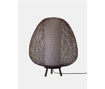 Ay Illuminate Gulvlampe Twiggy Egg brun bambus ø60cm