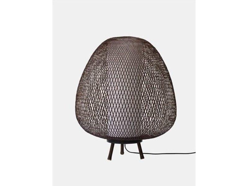 Ay Illuminate Vloerlamp Twiggy Egg bruin bamboe ø60cm