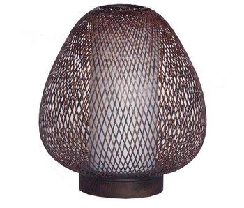 Ay Illuminate Lámpara de mesa Twiggy Egg marrón bambú ø30cm