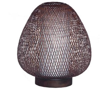 Ay Illuminate Table lamp Twiggy Egg brown bamboo ø30cm