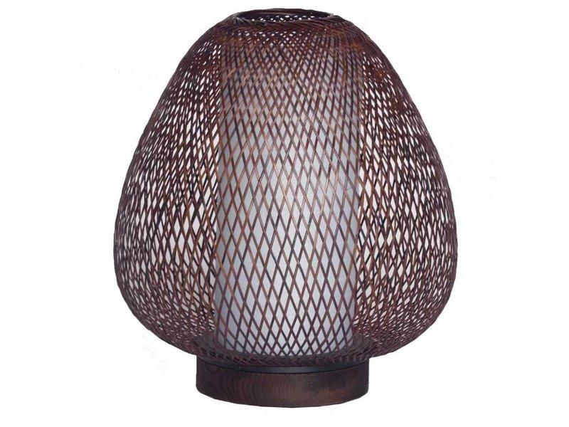Ay Illuminate Tischleuchte Twiggy Egg braun Bambus ø30cm