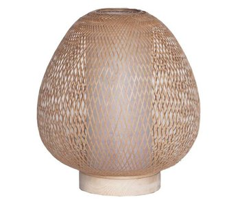 Ay Illuminate Bordlampe Twiggy Egg naturlig bambus ø30cm