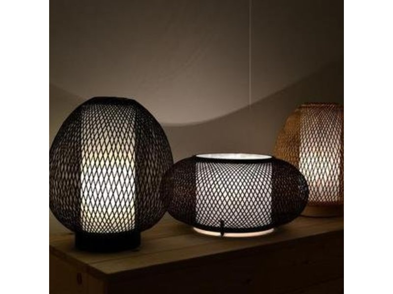 Ay Illuminate Bordlampe Twiggy Æg brun bambus ø30cm
