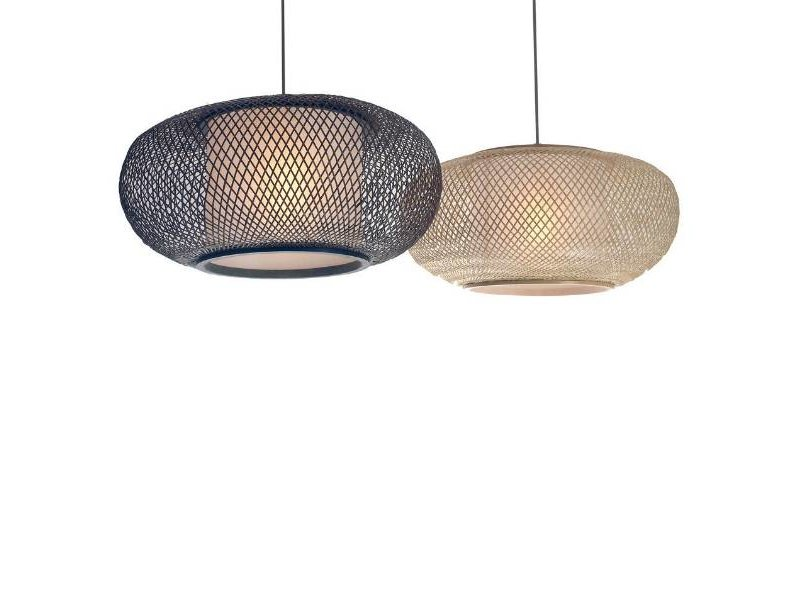 Ay Illuminate Hängande lampa Twiggy AL brun bambu ø40cm