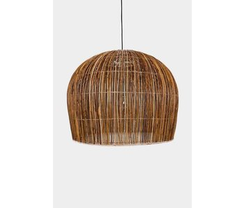 Ay Illuminate Suspension Buri ampoule rotin naturel ø76cm