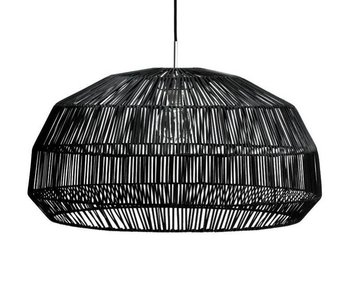 Ay Illuminate Hanging lamp Nama 1 black rattan ø72cm