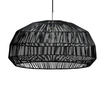 Ay Illuminate Lámpara colgante Nama 1 ratán negro ø72cm