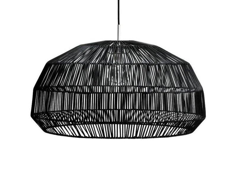 Ay Illuminate Hanglamp Nama 1 zwart rotan ø72cm