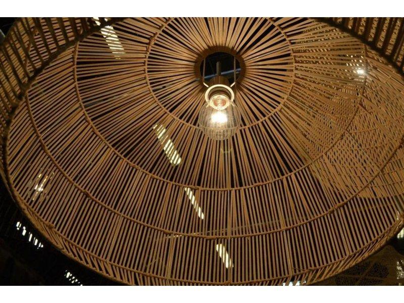 Ay Illuminate Hanging lamp Nama 2 black rattan ø58cm